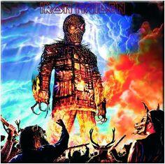 "Iron Maiden ""The Wicker Man"" Metal Fridge Magnet - Guitar Very Much"