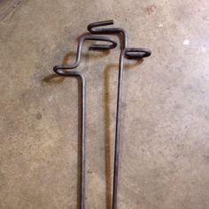 "Bank fishing rod holders 1/2"" steel"