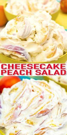 Dessert Salads, Fruit Salad Recipes, Mexican Food Recipes, Sweet Recipes, Fruit Salads, Fruit Fruit, Tasty Videos, Food Videos, Peach Cheesecake