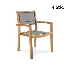 Schlicht, funktional, robust, bequem - diese Eigenschaften kombiniert der Hersteller Ethimo in seinem Outdoor-Stuhl MYA. Der Stuhl passt in nahezu jede Umgebung, die Sitzfläche federt durch den Bezug angenehm.