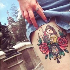 Save this to get Disney ink inspo from these Beauty and the Beast tattoo ideas.