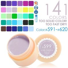 CANNI UV Gel Paint 141 colors 5ml Nails Gel UV Colors 591 - 620