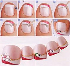Not only nails of hands should be prepared. Similarly, those in the legs, especially in summer when wearing slippers or sandals. Let's see how quick and simple nail model I could achieve.