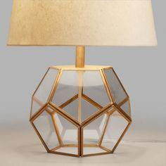 Glass Pentagon Accent Lamp Base - v1