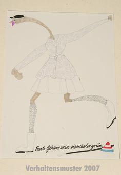 fashion drawing by connyie rethmann bunte geheimnisse eierschalengrün