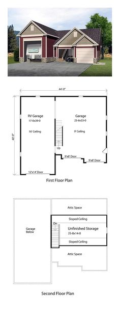1000 images about 3 car garage plans on pinterest for 3 car garage size square feet