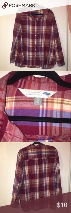 Old Navy Flannel Shirt Old Navy flannel shirt size XL women's Old Navy Tops Tees - Long Sleeve