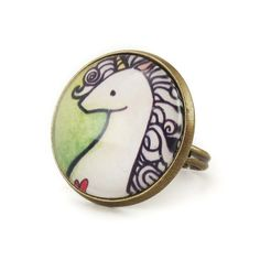 Green Unicorn Ring – CellsDividing