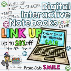 Study All Knight Teacher Resources: Digital Interactive Notebooks Make Me Smile Link Up
