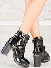Μπότες Alexander Krist - μαύρο