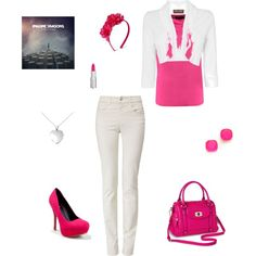 Makenna and Pink by heidiprentice on Polyvore featuring Kala, Phase Eight, Armani Jeans, Qupid, Merona, Blue Nile, Kate Spade, Cherokee and Givenchy