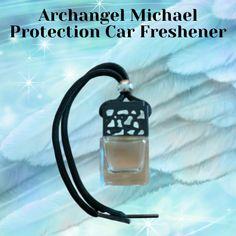 Car Freshener, Archangel Michael, Stress And Anxiety, Essential Oils, Spiritual, Water Bottle, Fragrance, Water Bottles, Car Air Freshener