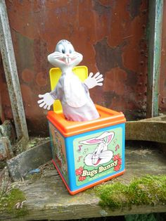 1978 BUGS BUNNY jack in the box  It Works by OldSteamerTrunkJunk, $25.00