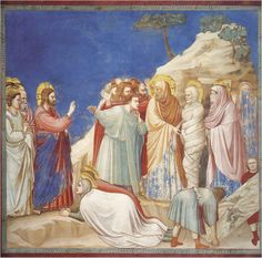 Giotto Raising of Lazurus Scrovegni (Arena) Chapel, Padua, Italy 1306