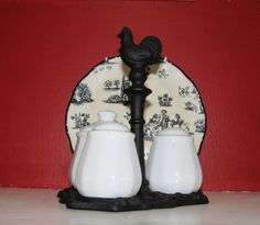 French Apil Condiment Set Mustard Pot with Lid by LorettasCache, $54.95