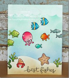 Lawn Fawn So Jelly Fintastic Friends Happy Thoughts & Inkspots: Lawn Fawn ~ Under the Sea
