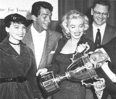 Leslie Caron, Dean Martin & Marilyn Monroe