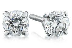 1/2 ct.tw Round Diamond Solitaire Earrings in Platinum Szul. $594.00. Save 32% Off!