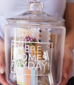Christmas Gifts in a Jar - New Job Jar - Click pic for 25 DIY Christmas Gifts