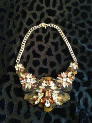 Leopard & Diamond Bib Necklace for sale at Glamhairus.com