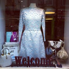 Love this silver/blue 60's dress from our stock:)