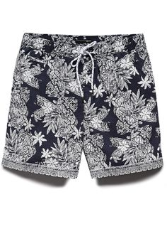 Botanical Cotton-Blend Swim Trunks | 21 MEN Swim is in! #F21Swim #21Men