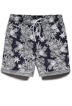 Botanical Cotton-Blend Swim Trunks | 21 MEN Swim is in! #F21Swim #21Men