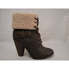 @Overstock - These adorable women's brown boots are sure to be a cherished addition to any woman's shoe collection. The brown, faux fur-trimmed boots lace in the front and have a small four-inch heel that will give you just the lift you want.http://www.overstock.com/Clothing-Shoes/Bucco-Womens-Brown-Cheri-Lace-up-Ankle-Boots/6321985/product.html?CID=214117 $46.99