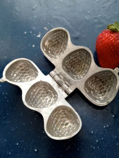 Vintage Strawberry Hinged Aluminum Chocolate Candy by PackratPair, $45.00