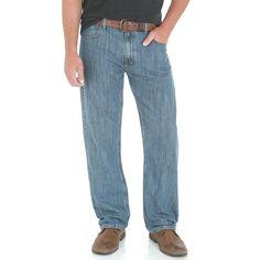Men's Wrangler Loose-Fit Jeans, Size: 42X30, Blue Other