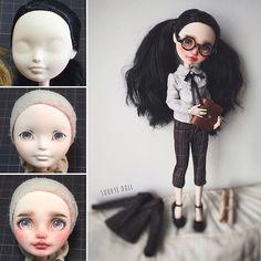 m Monster High repaint Custom Monster High Dolls, Monster High Repaint, Monster Dolls, Custom Dolls, Bratz Doll, Blythe Dolls, Clay Dolls, Doll Toys, Pretty Dolls