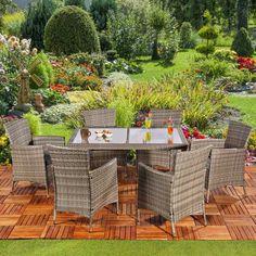 Poly Rattan Sitzgruppe. Gartengarnitur Garten Garnitur Outdoor Lounge Möbel  Gartenmöbel Gartengarnituren #