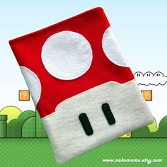 Your place to buy and sell all things handmade Luigi And Daisy, Black Felt, Reuse, Christmas Stockings, Kindle, Gadgets, Ipad, Geek Stuff, Design Inspiration