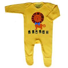 Personalised Lion Babygrow by Little Dandies