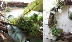 Polka Dot Bungalow: Moss and Birds Nest Spring Wreath {Tutorial}