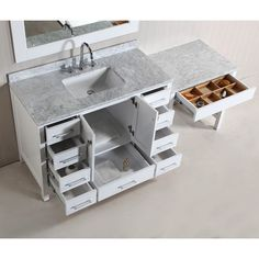 Vanity Table In The Ensuite Lucite Stool Bathrooms Pinterest - Bathroom vanity with makeup station for bathroom decor ideas