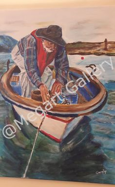 ΚΑΛΛΙΤΕΧΝΗΣ:Christine Abou-Negm ΔΙΑΣΤΑΣΕΙΣ:50x70cm ΑΚΡΥΛΙΚΑ TIMH:750,00 € Blue Artwork, Shades Of Blue, Painting, Life, Painting Art, Paintings, Painted Canvas, Drawings