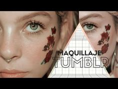 TATUAJES EN LA CARA + NATURAL MAKEUP LOOK - YouTube