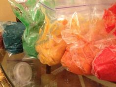 refrigerate colored dough