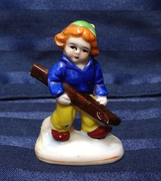 Vintage Occupied Japan Ski Figurine Boy or Girl from CurioCabinet, $12.00