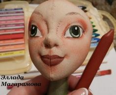 painting cloth doll face