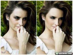 what a difference, lighting on the set and photoshop makes for Penelope Cruz