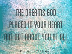 Your dreams aren't always about YOU.