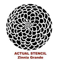 Zinnia Stencil Printable stencils on Pinterest ...