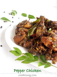 pepper chicken Veg Recipes, Indian Food Recipes, Crockpot Recipes, Chicken Recipes, Kerala Recipes, Dinner Recipes, Cooking Recipes, Healthy Recipes, Healthy Food