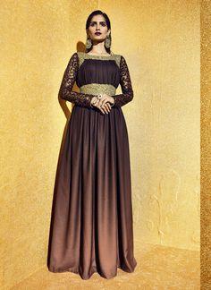 Fancy A Line Style Incredible Unstitched Salwar Kameez