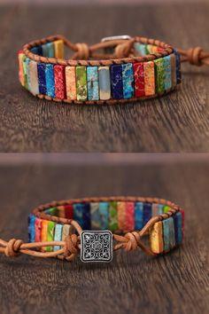 Metal Clay Jewelry, Leather Jewelry, Wire Jewelry, Jewelry Crafts, Gemstone Jewelry, Beaded Jewelry, Handmade Jewelry, Beaded Bracelets, Leather Bracelets