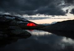 camping by the lake Sweden by Helliberg Tents