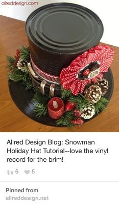 snowman holiday hat