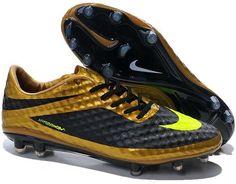 promo code 49908 4372b Nike Hypervenom Phantom Premium FG Soccer Cleats gold black yellow Soccer  Boots, Soccer Cleats,